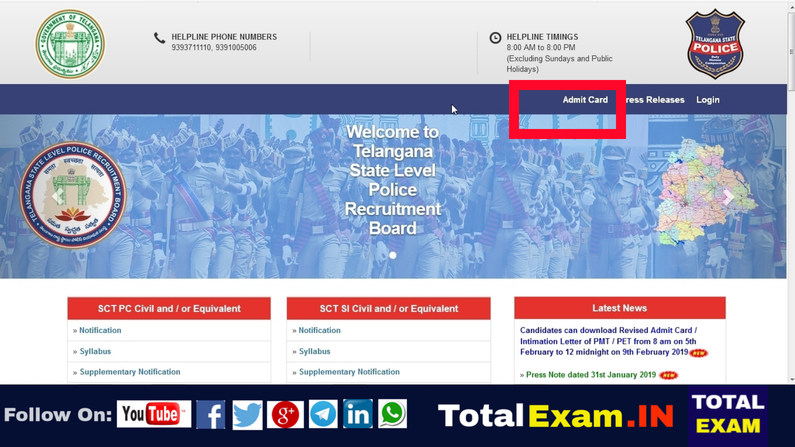 TSLPRB Releases Admit Cards For Physical Efficiency Test_Physical Measurement Test(1)