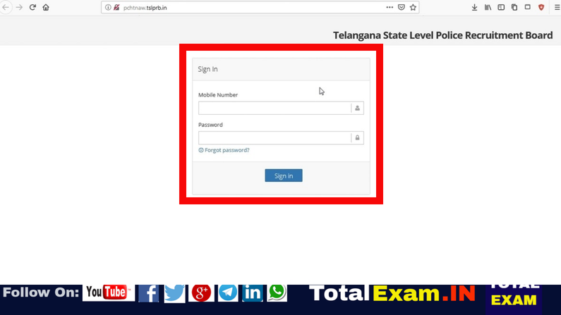TSLPRB Releases Admit Cards For telanganaPhysical Efficiency Test_Physical Measurement Test